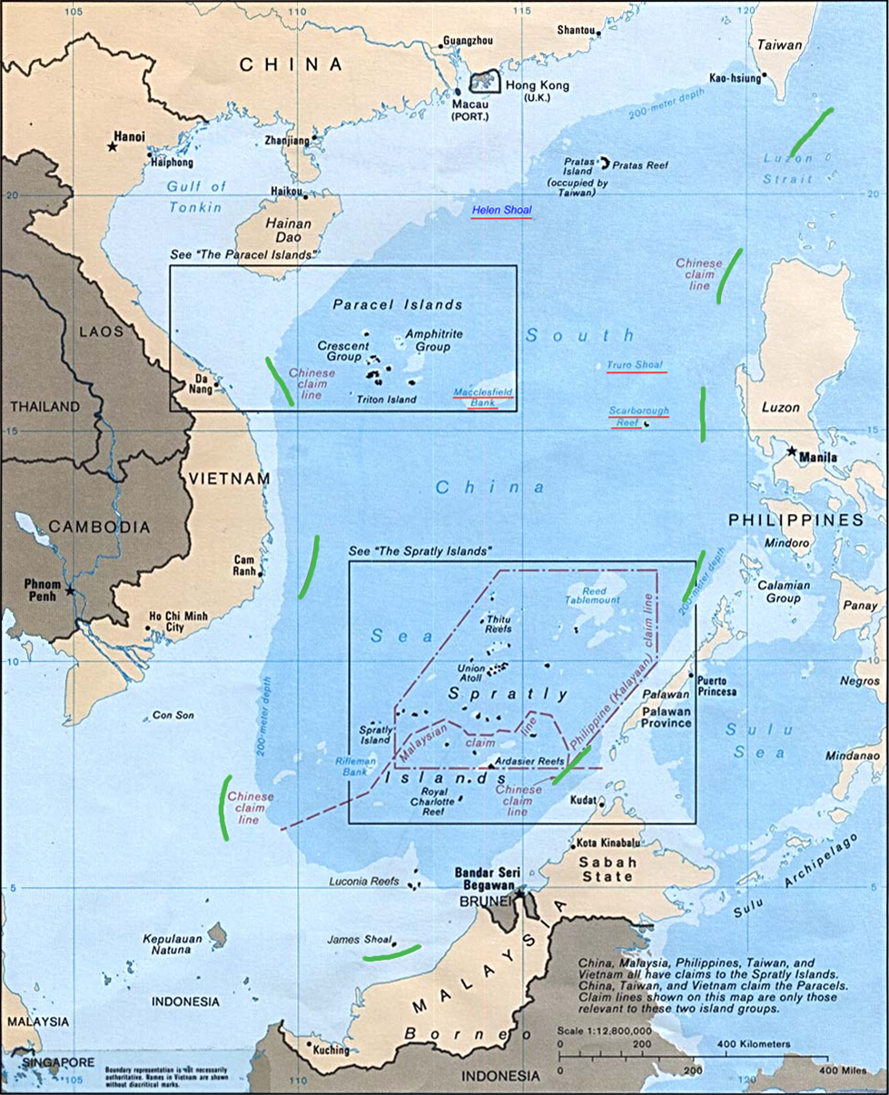 Map of claims in South China Sea (CIA/Wikipedia Commons)