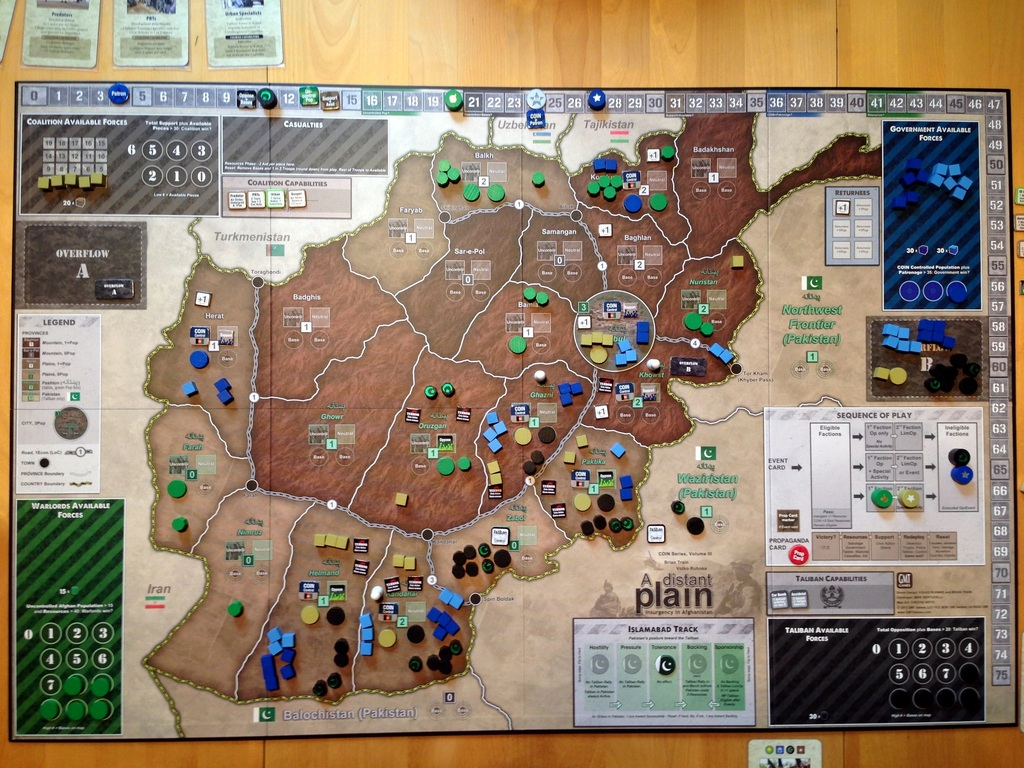A Distant Plain by Volko Ruhnke and Brian Train. (Juha Kettunen via BoardGameGeek)