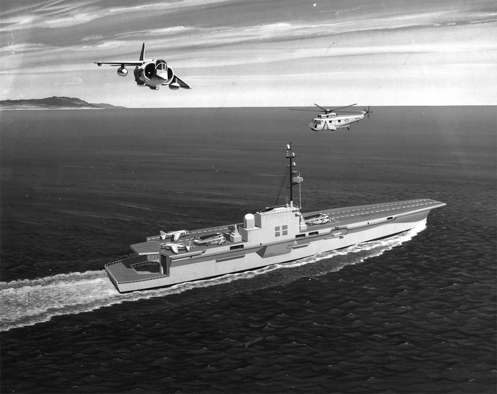 An artist's conception of the final Sea Control Ship design. (U.S. Navy Image)