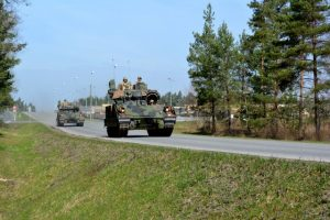 Soldiers from 1st Armored Brigade Combat Team, 3rd Infantry Division road test two M2A3 Bradley Infantry Fighting Vehicles as they draw equipment from the European Activity Set at Grafenwoehr Training Area, Germany ahead of exercise Anakonda 16 (US Army)