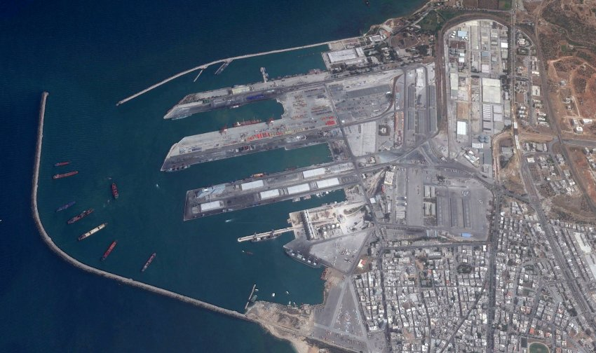 Tartus naval base in Syria. (Google Earth, DigitalGlobe)