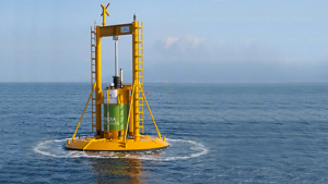 Ocean Power Technology's (OPT) Powerbuoy wave generation system. (Credit: USMClife.com)