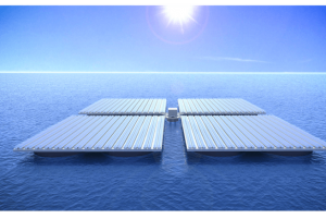 The solar panels use a giant platform that remains steady in rough seas (Credit: UT Wien)
