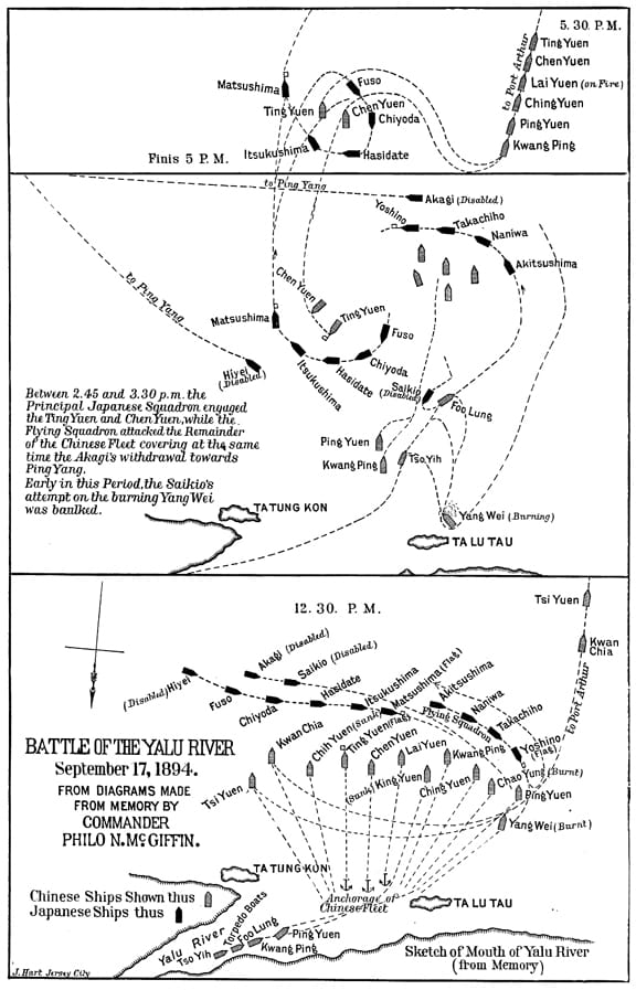 The Decisive Fleet Enement at the Battle of the Yalu River on irrawaddy river map, tsinling mountains map, syngman rhee, kim il-sung stadium, himalayas map, 38th parallel map, yalong river, china map, taiwan map, songhua river map, tibet map, naktong river map, honshu on map, brahmaputra river, tumen river map, gobi desert on map, mekong river map, yanbian korean autonomous prefecture, manchurian plain map, chang sung-taek, kumsusan memorial palace, elbe river map, yellow sea map, mount everest map, han river, battle of inchon, tumen river, sino-korea friendship bridge, battle of yalu river, baekdu mountain, korea bay, chang river map, brahmaputra river map, yangtze river map, liao river,
