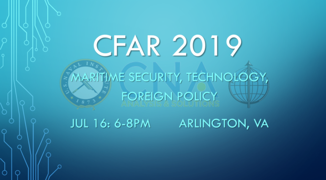 CFAR 2019 Winners Announced for July 16 Event at CNA